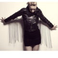 Fashion Body Chain Nightclub Showgirl Back Wing Tassel Punk Long Necklace Jewelry - Gun black