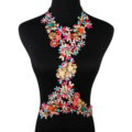 Fashion Crystal Flower Pendant Necklace Bikini Beach Dress Decro Body Chain Jewelry - Colour