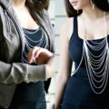 Fashion Punk Alloy Body Chain Bra Slave Harness Dress Decor Necklace Jewelry - Sliver