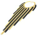 Personalized Metal Tassel Choker Chunky Necklace Punk Dress Decor Jewelry - Gold Black