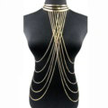 Simple Multi Layer Body Chain Sexy Punk Choker Necklace Harness Bikini Jewelry - Gold