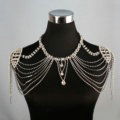 Special Offer Crystal Bridal Shoulder Chain Jewelry Wedding Stage Necklace - White