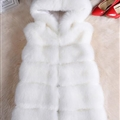 Cheap Winter Cool Faux Fox Fur Vest Fashion Women Waistcoat - White