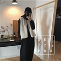 Cheap Winter Elegant Faux Lamb Fur Vest Fashion Women Waistcoat - White