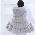Cheap Winter Good Faux Fox Fur Vest Fashion Women Waistcoat - Gray