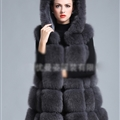 Cheap Winter Good Faux Fox Fur Vest Fashion Women Waistcoat - Grey