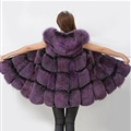 Cheap Winter Good Faux Fox Fur Vest Fashion Women Waistcoat - Purple