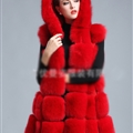 Cheap Winter Good Faux Fox Fur Vest Fashion Women Waistcoat - Red
