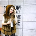 Cheap Winter Good Faux Fox Fur Vest Fashion Women Waistcoat - Yellow