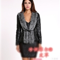 Wholesale Cool Faux Fur Overcoat Fashion Women Coat - Black