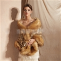 Wholesale Warm Faux Fox Fur Overcoat Fashion Women Coat - Leopard