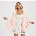 Wholesale Warm Faux Fox Fur Overcoat Fashion Women Coat - Pink